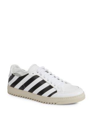 Off-White Men's Diagonal Spray-Stripe Fashion Sneakers In White