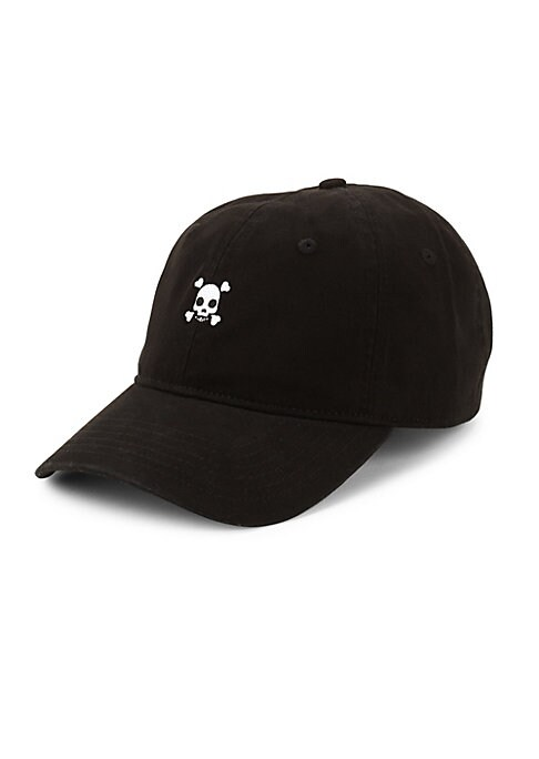 "Image of Cotton baseball cap featuring embroidered design.10.25""W x 7.25""H x 5.25""D.Cotton. Dry clean. Imported."