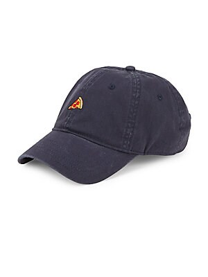 """Image of Cotton baseball cap with embroidered graphic design Metal buckle closure 10.25""""W x 7.25""""H x 5.25""""D Cotton Imported. Men Accessories - Fashion Accessories > Saks Fifth Avenue. Block Headwear. Color: Navy."""