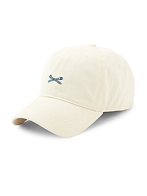 Image of Classic baseball cap with embroidered oars graphic Cotton Spot clean Imported. Men Accessories - Cold Weather Accessories. Block Headwear. Color: Stone.