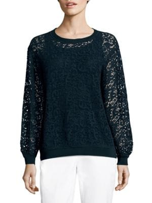 Cirilla Crocheted Lace Top by Lafayette 148 New York