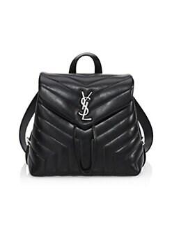 f248ca43c949 Saint Laurent - Loulou Matelassé Leather Backpack