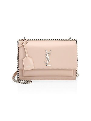 9f6315dae788 Saint Laurent - Medium Sunset Grained Leather Silver Chain Bag