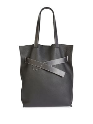 Vertical Belt Grained Leather Tote by Loewe