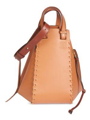 Medium Hammock Calfskin Leather Shoulder Bag - White, Tan