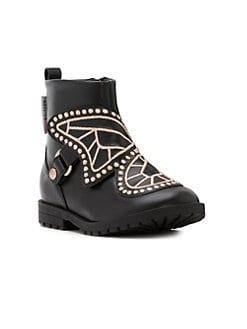 Little Girl's Mini Katrina Boots BLACK. Product image