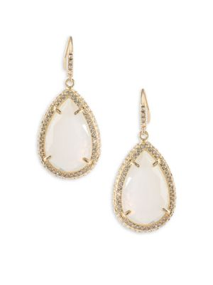 ABS BY ALLEN SCHWARTZ Anytime Anywhere Crystal Teardrop Earrings, Gold