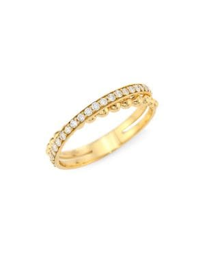 Hueb Diamond 18k Yellow Gold Ring