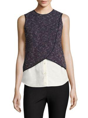 Layered Knit Tank Top by Derek Lam 10 Crosby