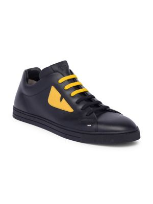 Monster Leather Sneakers by Fendi