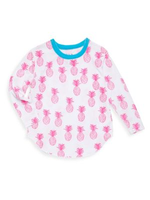 Toddlers  Little Girls Pineapples Vintage Jersey Tee