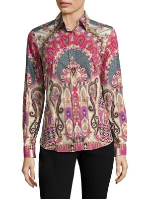 Paisley-Print Cotton Top by Etro