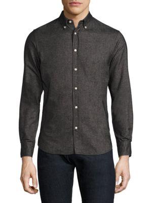 Officine Generale  Antime Cotton Button-Down Dress Shirt