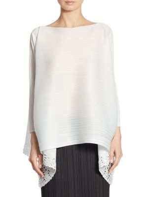 Lace Long Sleeve Tunic by Pleats Please Issey Miyake
