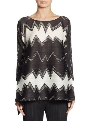 Zig Zag Tunic Top by Pleats Please Issey Miyake