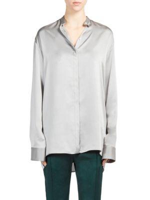 Silk Button-Front Blouse by Haider Ackermann