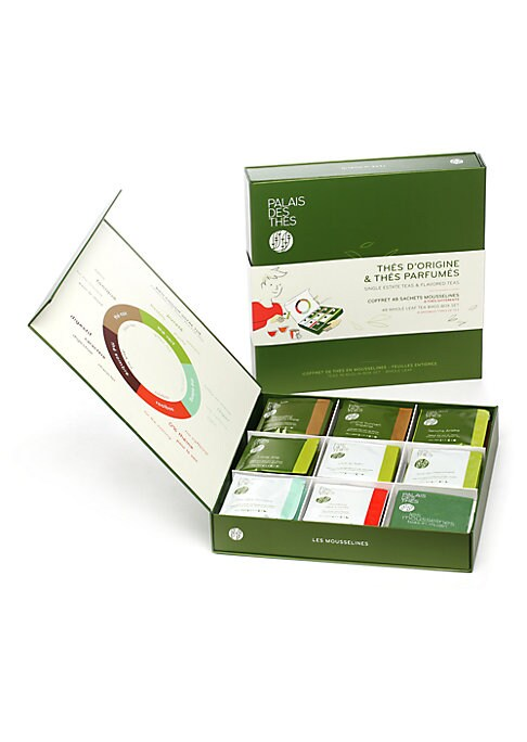 Image of A selection of 48 tea bags in eight delicious flavors, packaged in a sophisticated box. Set of 48.Includes: Long Jing, Margaret's Hope, Sencha Ariake, Grand Yunnan Imperial, The du Hammam, The des Songes, Vive le The, and Roiboos des Lords.6 tea bags of e