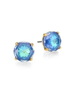 Kate Spade Crystal Stud Earrings In Sapphire Modesens