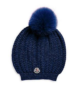 3520f94519c Moncler - Berretto Fur Pom-Pom Hat - saks.com