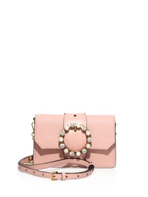 Jeweled Leather Crossbody/Belt Bag by Miu Miu