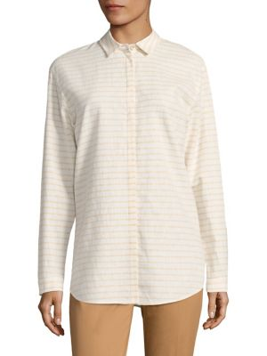 Sabira Striped Blouse by Lafayette 148 New York