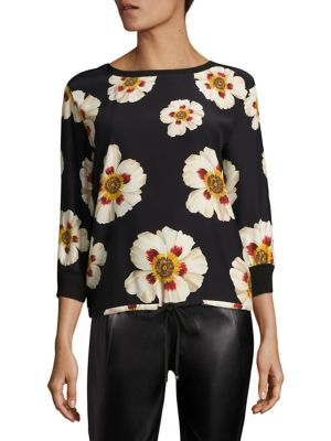 Nessa Silk Blouse by Lafayette 148 New York