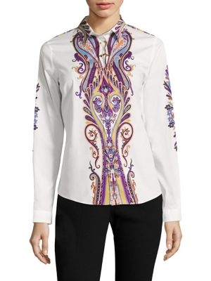 Paisley Cotton Poplin Shirt by Etro