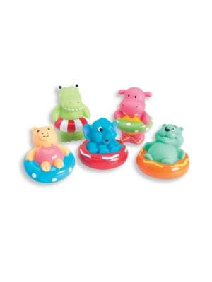 Babys FivePiece Swim Party Squirtable Bath Toys Set