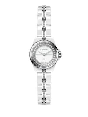 Chanel J12 Xs Diamond Ceramic Stainless Steel Bracelet Watch