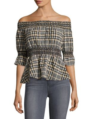 Charron Off-The-Shoulder Top by Ganni