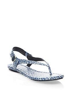 64d1006aad5 Tory Burch Minnie Leopard-Print Travel Sandals from Saks Fifth ...