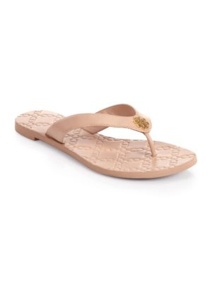 Monroe Flat Thong Sandal, Light Beige, Light Makeup