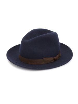 Saks Fifth Avenue  COLLECTION Wide Brim Wool Fedora Hat