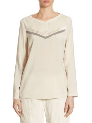 Silk Monili Top by Brunello Cucinelli