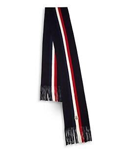 2bf746fbb05e Moncler. Stripe Wool Scarf