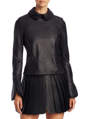 Leather Layer Top by Brandon Maxwell