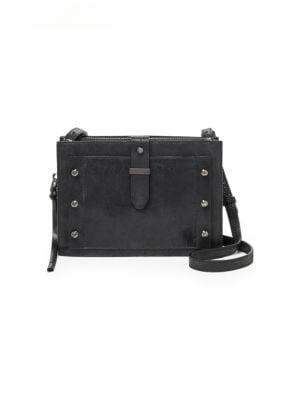 Warren City Leather Crossbody Bag, Black