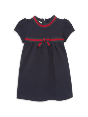 Gucci Baby Girls Contrast Bow Dress