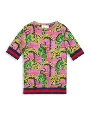 Little Girl's & Girl's Bengal-Print Sweatshirt by Gucci