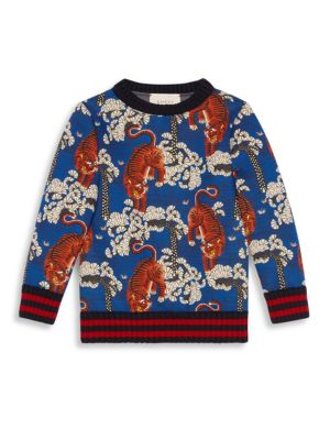 Little Boy's & Boy's Bengal-Print Sweatshirt by Gucci