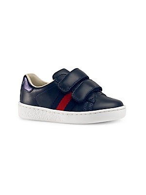 a7caaf172943 Gucci - Baby s  amp  Toddler s Web-Trim Leather Sneakers