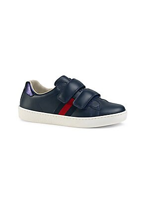 900fb33c0c3 Gucci - Toddler s   Kid s Web-Trim Leather Sneakers