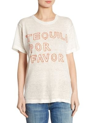 Tequila Por Favor Linen Tee by Banner Day