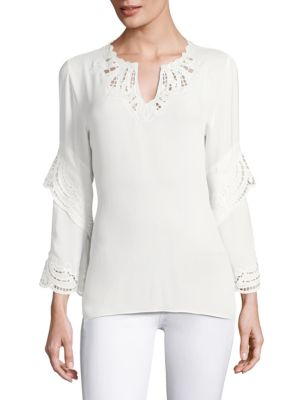 Lia Silk Blouse by KOBI HALPERIN