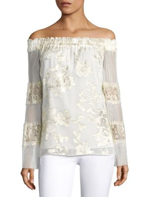 Charmaine Embroidered Off-The-Shoulder Blouse by KOBI HALPERIN