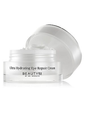 Image of WHAT IT IS The Ultra Hydrating Eye Repair Cream by BeautyRx by Dr. Schultz is an age-defying treatment that nourishes and helps prevent visible signs of aging. Packed with Pentabrite and Tetrafoliant, two BeautyRx proprietary compounds, this eye cream red