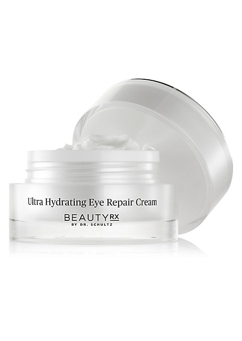 Image of The Ultra Hydrating Eye Repair Cream by BeautyRx by Dr. Schultz is an age-defying treatment that nourishes and helps prevent visible signs of aging. Packed with Pentabrite and Tetrafoliant, two BeautyRx proprietary compounds, this eye cream reduces the ap