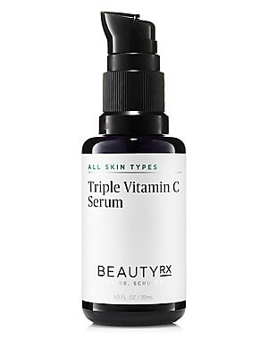 Image of WHAT IT IS The Triple Vitamin C Serum by BeautyRx by Dr. Schultz brightens the appearance of skin and leaves it feeling softer and smoother. With 10% Antioxidant Serum and three concentrated forms of Vitamin C, the formula reduces the appearance of dark s