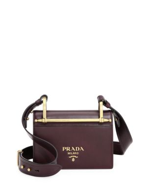 Pattina Leather Shoulder Bag by Prada
