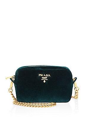 4d7d8a5f006e28 Prada - Bandoliera Velvet Chain Camera Bag - saks.com